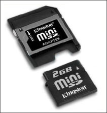 2GB mini SD + [card reader] + [flash drive] USB 2.0!