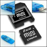 2GB mini SD + [card reader] + [flash drive] USB 2.