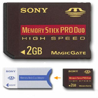 2GB SΟΝΥ Memory Stick PRO Duo High Speed + adapter
